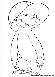stylish gorgeous coloring pages curious george