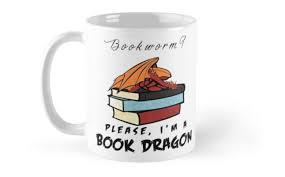 Dragon Coffee Cup Bookworm Please I U0027m A Book Dragon
