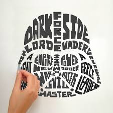 amazon com roommates star wars typographic darth vader peel and view larger