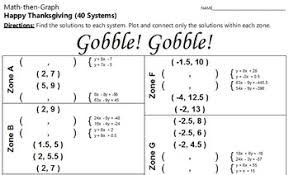 gobble 40 systems of linear equations coordinate graphing