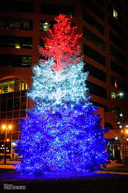 blue white christmas lights red white and blue christmas tree colorado springs christmas