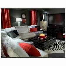 red and gray living room home planning ideas 2017