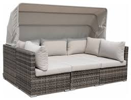Outdoor Sofa Bed Outdoor Daybed With Canopy Taupe Contemporary Outdoor