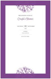Wedding Booklet Templates Wedding Program Templates Vistaprint