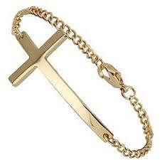 bracelet with cross images Gold simple cross bracelet miss selfridge polyvore out=j