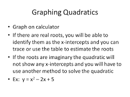 5 graphing quadratics graph on calculator