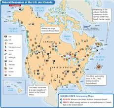 map us landforms the united states and canada landforms and resources