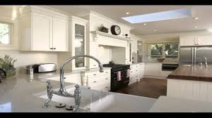 kitchen modern double sink and white granite countertops black