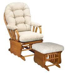 Glider Chair With Ottoman Furniture Pretty Glider Rocker With Ottoman With Cream Cushion