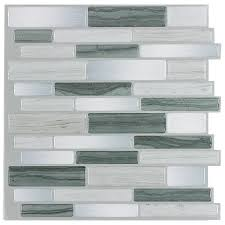 kitchen lowes backsplash in mosaic grey mist linear mosaic