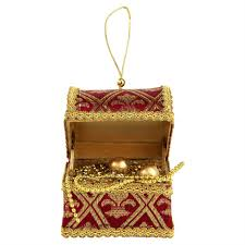 royal treasure chest hanging christmas tree decoration u2013 the
