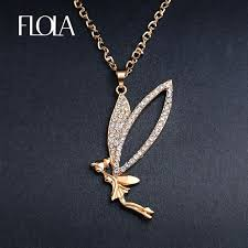 fairy jewelry necklace images Flola cute flying fairy necklace gold long chain crystal angel jpg