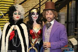 holly willoughby nearly flashes in her halloween costume daily