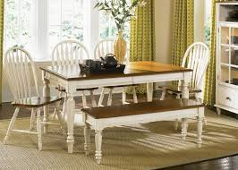 Bench Style Dining Tables Country Style Dining Table With Bench Maggieshopepage