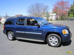 indigo blue metallic 2004 gmc envoy xl slt 4x4 exterior photo