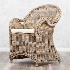 Ebay Esszimmer Rattan Rattan Sessel Charlotte Antique Grey Mit Sitzkissen Garten Stuhl