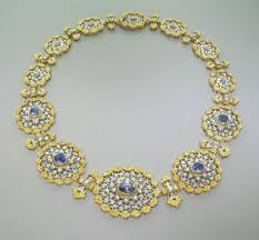diamond necklace with sapphire images Important buccellati sapphire diamond necklace for sale at 1stdibs jpg