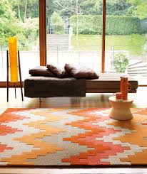 Aztec Kitchen Rug Aztec Terracotta 100 Wool Pile Rug Available From Portess Cool