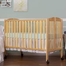 dream on me 2 in 1 full size folding crib natural babies