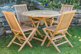 folding teak furniture set garden furniture land
