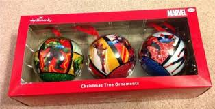 Marvel Christmas Ornaments - set of 3 hallmark marvel christmas tree ball ornaments hulk iron
