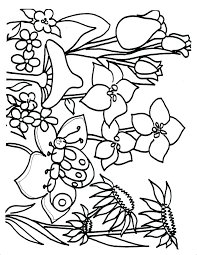 printable spring flowers coloring spring flowers printable pages flower page sheets free