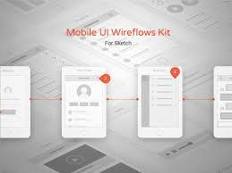 mobile ui wireframe kit sketch freebie download free resource