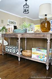 sofa console table long daily find pottery barn and living rooms