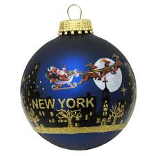 glass i ny ornaments from new york city