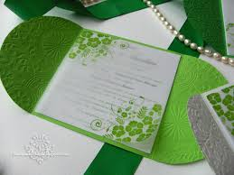 green wedding invitations handmade wedding invitations green and white summer wedding