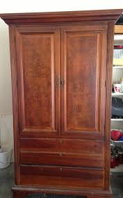 Dark Cherry Armoire My Armoire Makeover Painting It Navy Emily A Clark