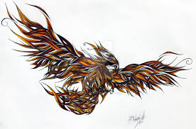 phoenix tattoo design color by prozzakchylde on deviantart