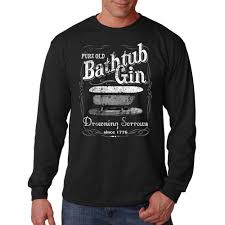 sleeve t shirt moonshine bathtub gin drowning sorrows since 1776