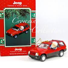 jeep cherokee christmas ornament enesco jeep grand cherokee treasury of christmas ornament there u0027s