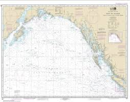 Aleutian Islands Map Gulf Of Alaska Strait Of Juan De Fuca To Kodiak Island Nautical