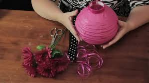 decorating with paper lantern table centerpiece