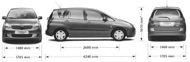 2000 toyota corolla reviews car blueprints toyota corolla verso blueprints vector drawings