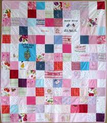 memory clothes original memory clothes quilt 48x60 random pattern the patchwork