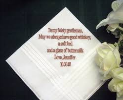 wedding gift groom personalized wedding gift wedding handkerchief from to