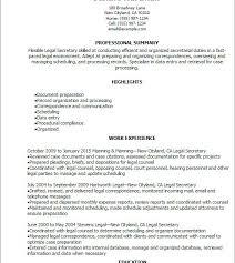 Legal Secretary Duties Resume Legal Secretary Resume Examples Secretary Resume Example Legal