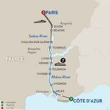 Arles France Map by Avalon Waterways November 2015 Huntley Travel