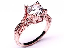 antique rose rings images Modern rose gold wedding rings with rose gold wedding rings jpg