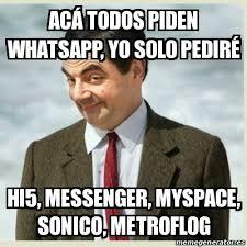 Hi5 Meme - meme mr bean ac磧 todos piden whatsapp yo solo pedir礬 hi5