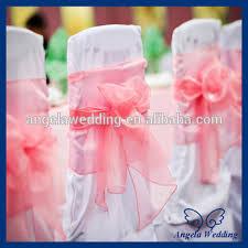 cheap chair sashes wholesale sh016a wholesale cheap beautiful wedding organza bow coral chair