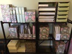 Anna Griffin Craft Room Furniture - southern enterprises anna griffin craft room rolling scrapbook