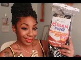 black cuban twist hair hair review freetress equal cuban twist hair youtube