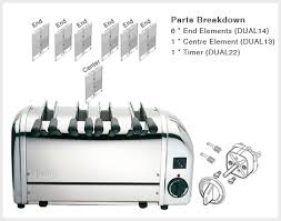 Dualit 4 Toaster Dualit 4 Slice Sandwich Toaster Spares Aj Stuart