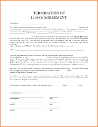 Notice Of Termination Of Rental Agreement by 6 Termination Of Tenancy Agreement Template Purchase Agreement