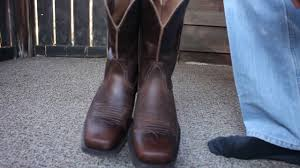 ariat rambler wide square toe boots youtube