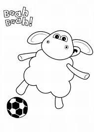 timmy play football shaun sheep coloring timmy play